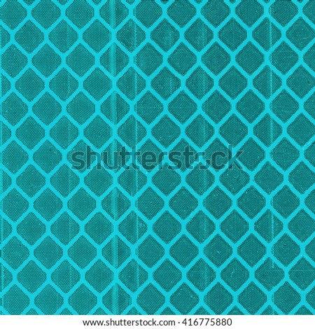 fragment of turquoise light reflector. Can be used for background