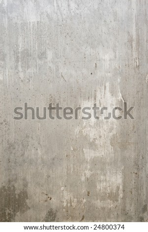 Fragment of wall with hole from grey of the concrete - stock photo