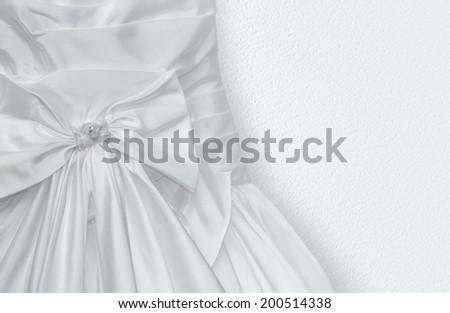Fragment of Wedding dress - stock photo