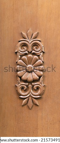 fragment of wooden door in old Riga , Latvia - stock photo