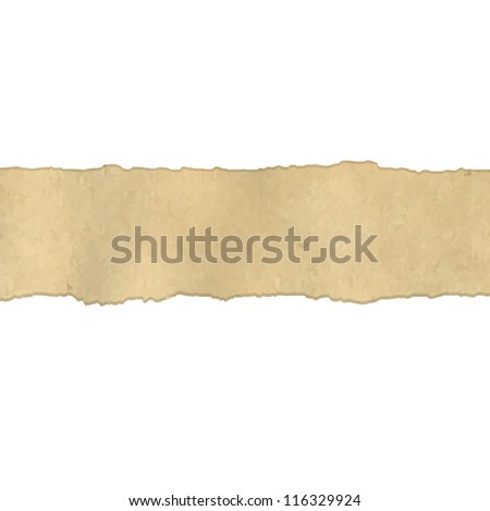 Fragmentary Old Vintage Paper Borders - stock photo