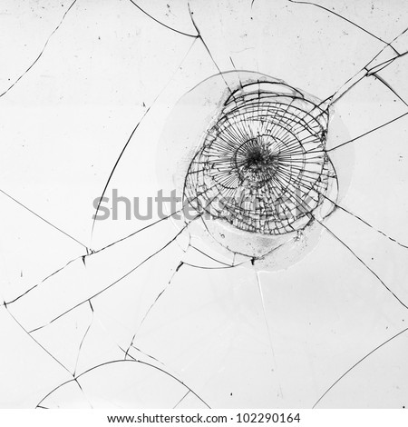 fragmented window pane in black and white for texture works - stock photo