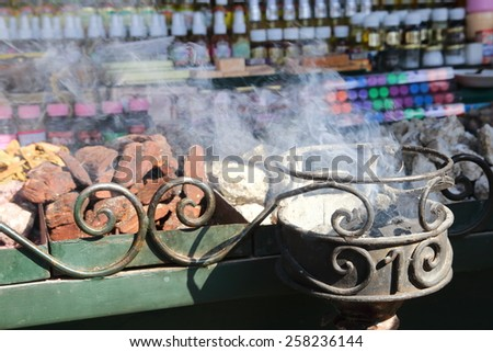 fragrance incense used for religious rites - stock photo