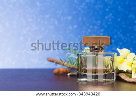 Fragrance, perfume bottle - stock photo