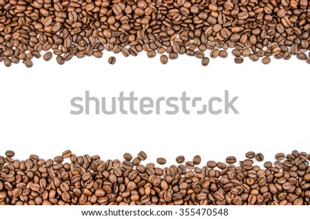 Fragrant coffee beans in large quantities - stock photo
