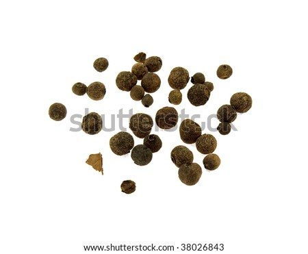 Fragrant pepper isolated on a white background - stock photo