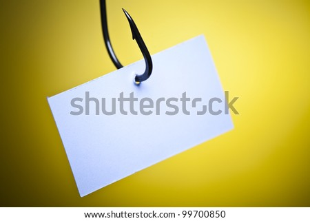 Frame and hook - stock photo