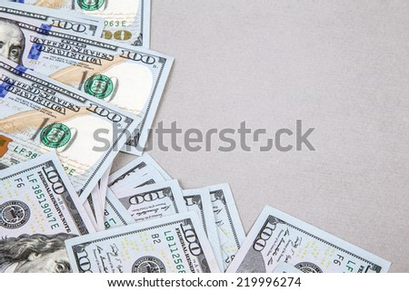 frame by dollars - stock photo