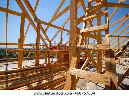 frame construction residential building roof