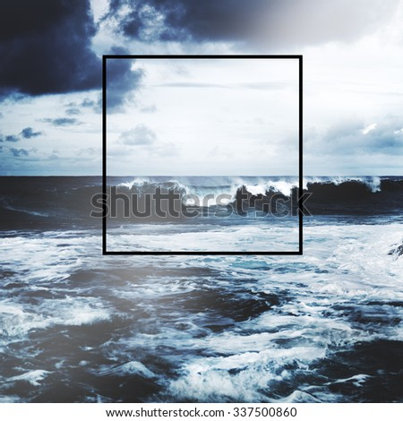 Frame Copy Space Square Border Rectangle Concept - stock photo
