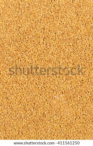 Frame filling top view of whole unprocessed fenugreek (Trigonella foenum-graecumcumin) seeds  - stock photo