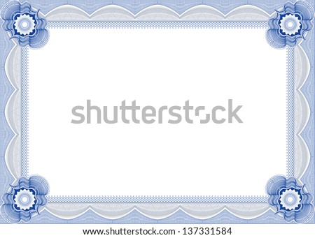 Frame for diploma. - stock photo