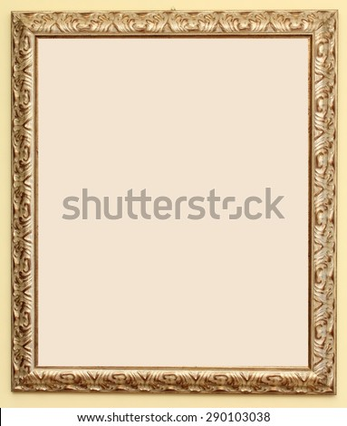 Frame for painting, wood, with gold fittings.