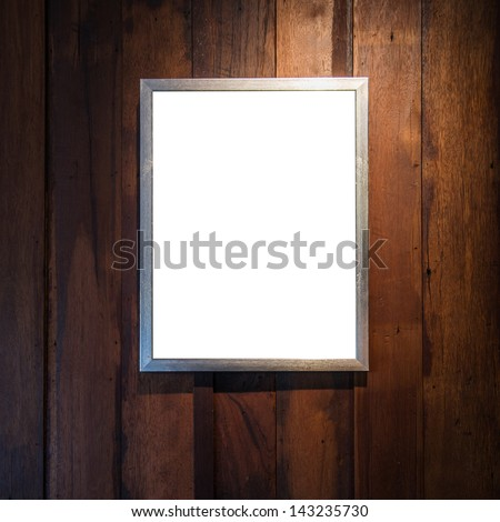 frame for photo on the old wood wall - stock photo