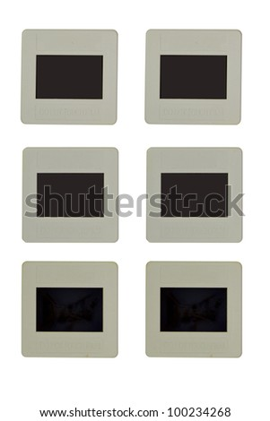 frame for slide isolated on white background - stock photo