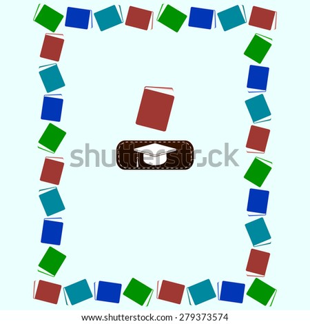 Frame from books. Education concept. - stock photo