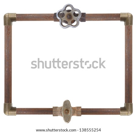 Frame from water pipes - stock photo