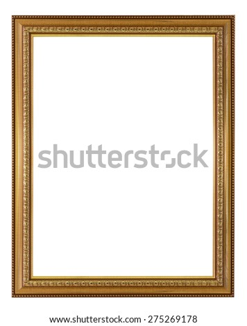 Frame gold and copper vintage isolated background. - stock photo
