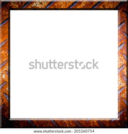 Frame in rusted texture background - stock photo
