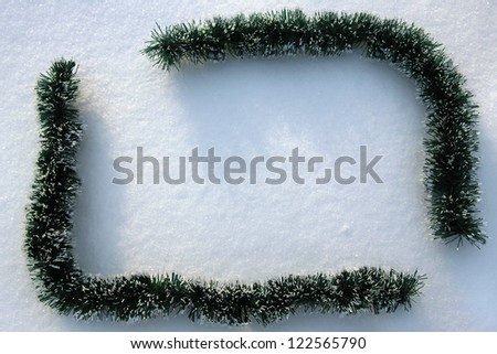 frame in the snow - stock photo