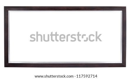 frame isolated on white background - stock photo