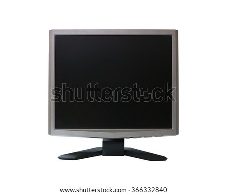 Frame LED computer screen (monitor) on white background and have clipping paths.