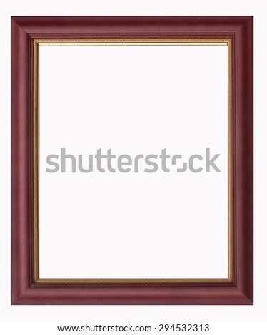 Frame made from old wood, Clipping path