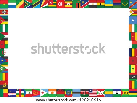 frame made of African countries flags