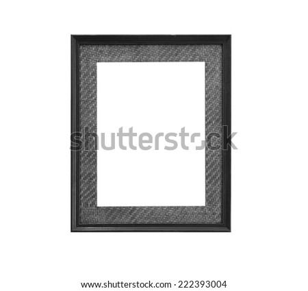 Frame made �¢??�¢??of old wood on white background.