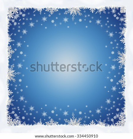 Frame Made of Snowflakes for Merry Christmas.  - stock photo