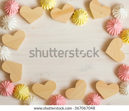 "Similar images to ""Different size heart figures and gingerbread on ..."