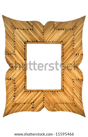 Frame made with matches - stock photo
