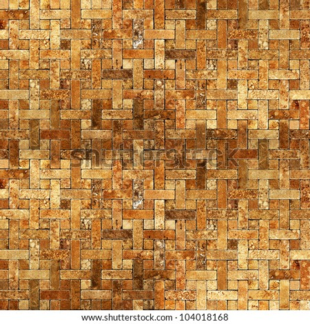 frame mosaic tile grunge background - stock photo