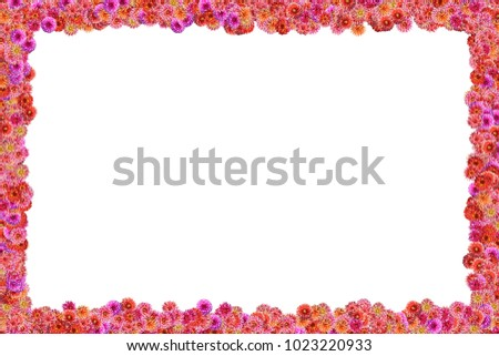 Frame Flowers Postcard Collage Photos Eight Stock Illustration ...