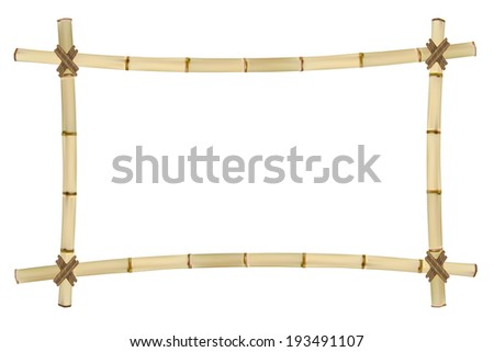 Frame of old bamboo sticks.  Illustration