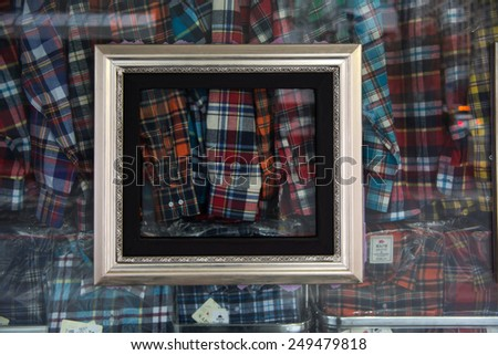frame of shop wall - stock photo