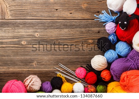 Frame of the color ball - stock photo