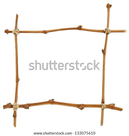 Frame of wooden twigs