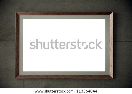 frame on wall/coffee shop photo frame wall - stock photo