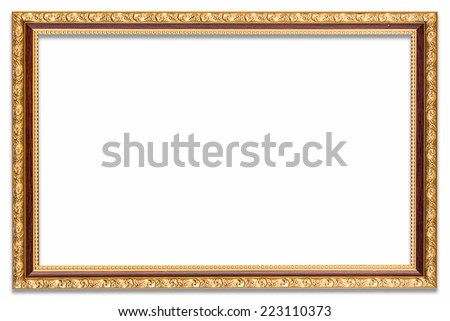 Frame photo on isolated white white drop shadow.