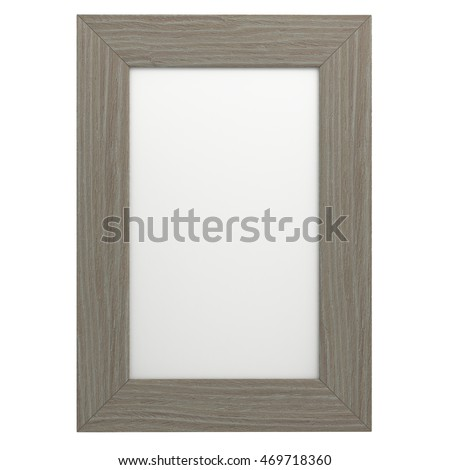 Frame Picture On Isolated White Of The Background