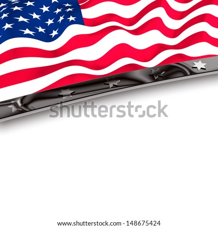 Frame set United States - stock photo