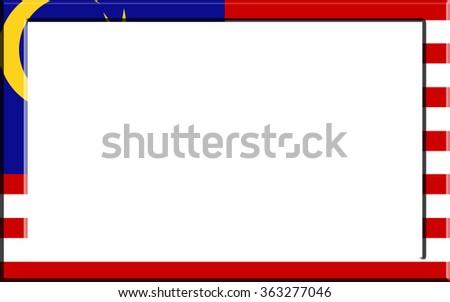 Frame Striped Malaysia Flag Stock Illustration 363277046 - Shutterstock