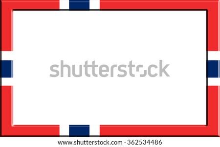 Frame Striped Norway Flag Stock Illustration 362534486 - Shutterstock