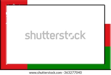 Frame Striped Oman Flag Stock Illustration 363277040 - Shutterstock