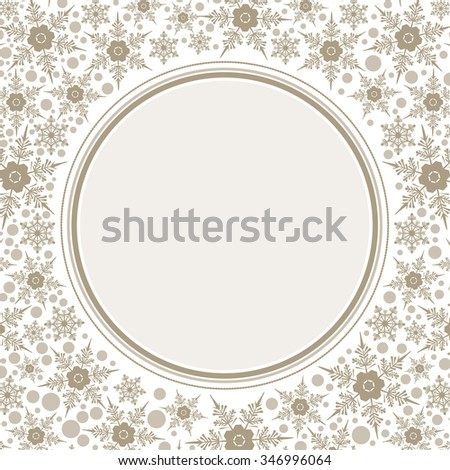 Frame template for greeting Christmas card