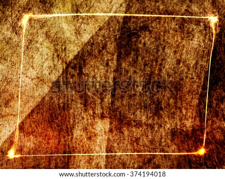 frame textile textured brown background
