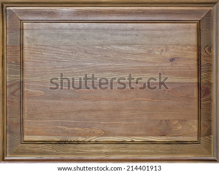 Frame with cardboard can be used as background