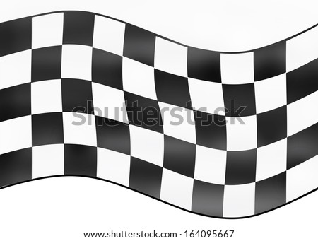 Frame with checkered flag