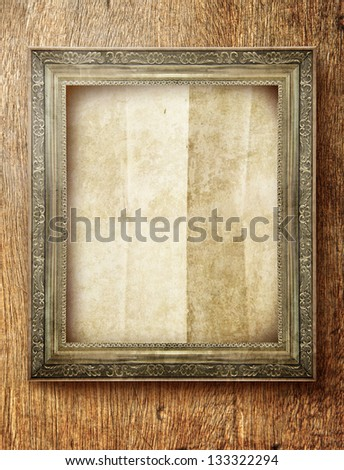 frame with empty space on wall in interior - stock photo